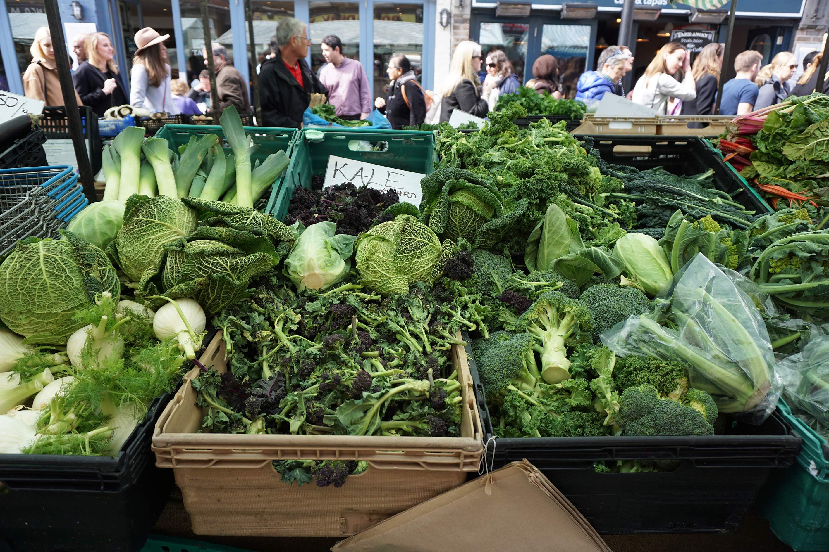 greens at market