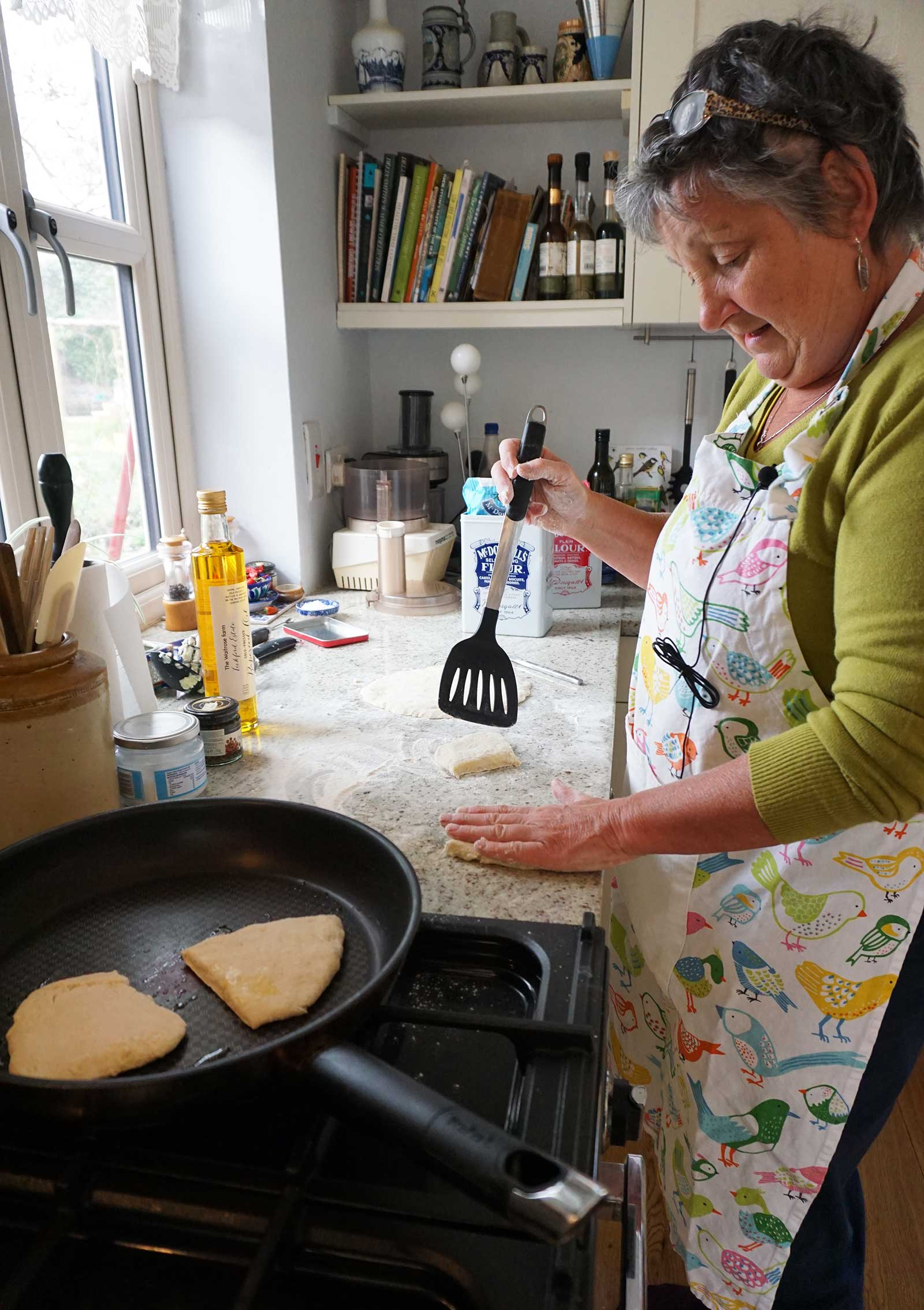 potato cakes recipe woman cooking