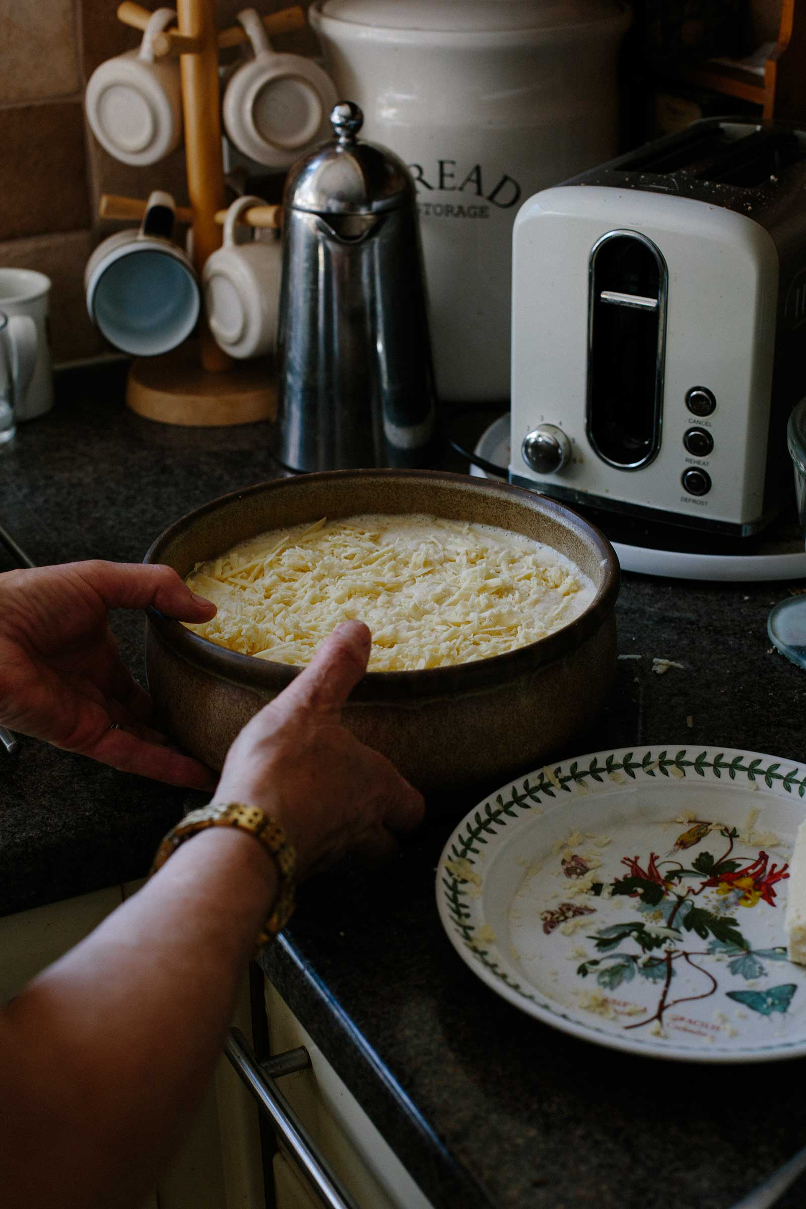 welsh cheese bread pudding leftover stale bread food waste recipes