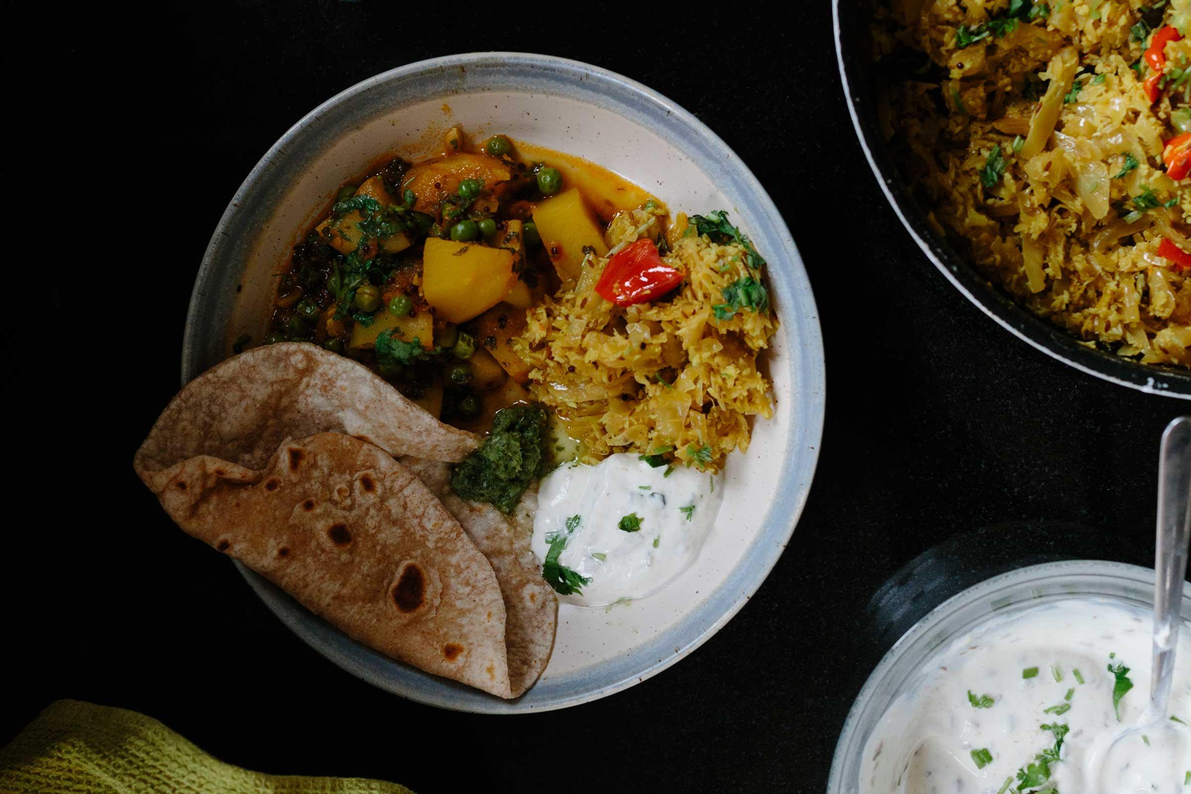 zero waste curry recipe indian sabji coconut cabbage thoran