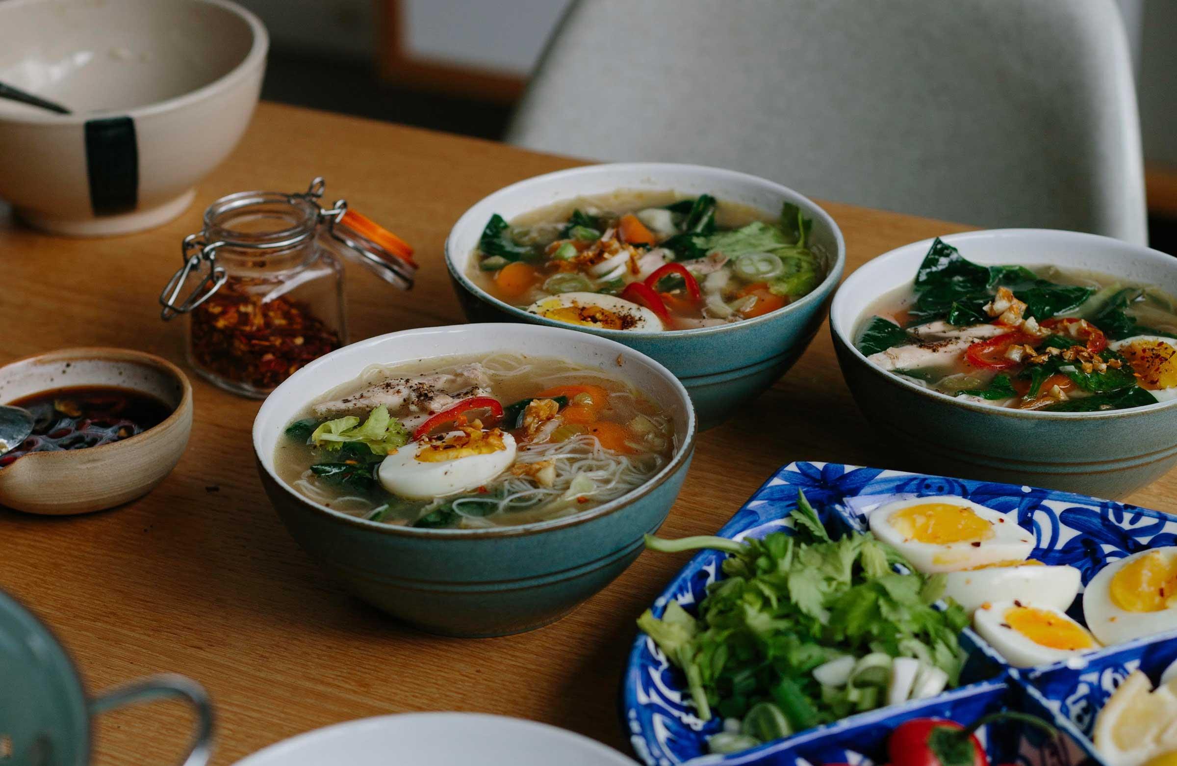filipino chicken noodle soup waste free recipe homemade chicken stock